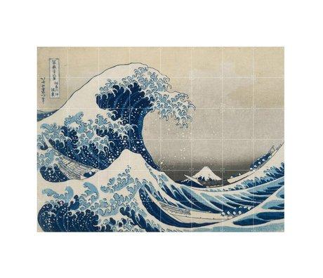 IXXI Wanddekoration Hokusai Die große Welle blaues Papier L 160x120cm