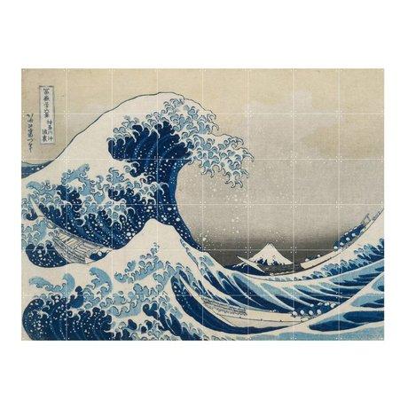 IXXI Wanddecoratie Hokusai The great wave blauw papier L 160x120cm
