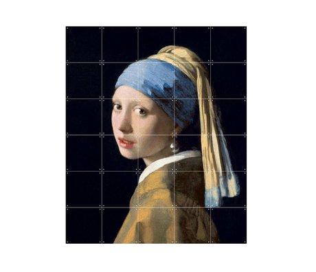 IXXI Wanddekoration Vermeers Mädchen mit dem Perlenohrring Mehrfarbenpapier S 100x120cm