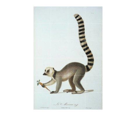 IXXI Wall decoration ring tailed lemur multicolour paper L 100x160cm