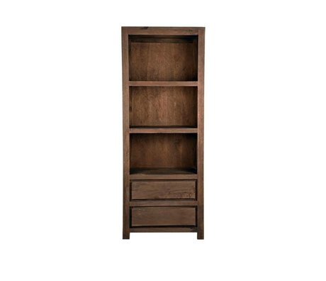 LEF collections Brügge Bücherregal braunes Holz 70x45x180cm