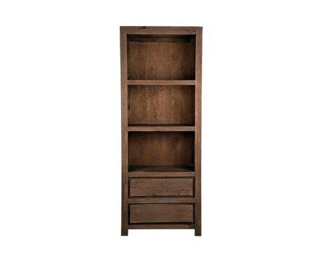 LEF collections Bruges Bibliothèque en bois brun 70x45x180cm