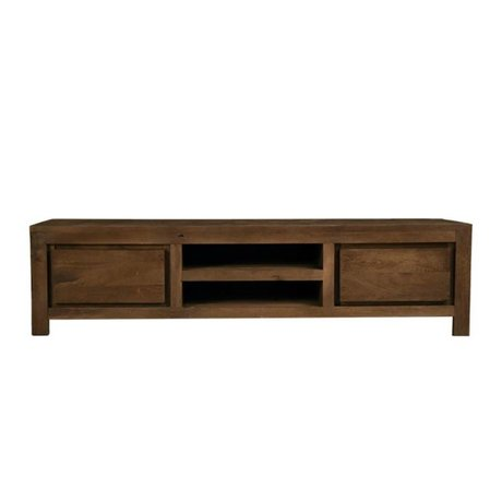 LEF collections TV cabinet Bruges brown wood 160x45x40cm