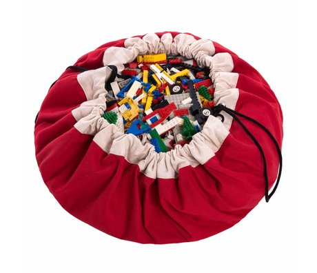 Play & Go Aufbewahrungstasche / playmat Classic Red rot Baumwolle Ø140cm