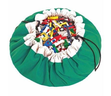 Play & Go Sac de rangement / tapis de jeu classique en coton vert vert Ø140cm