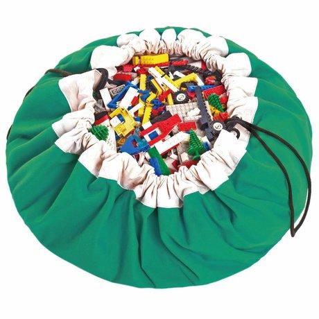Play & Go Storage bag / playmat Classic Green green cotton Ø140cm