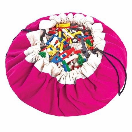 Play & Go Opbergzak/speelkleed Classic Fuchsia roze katoen Ø140cm