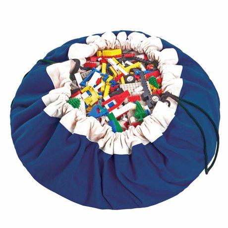 Play & Go Storage bag / playmat Classic Blue blue cotton Ø140cm
