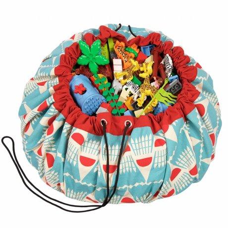 Play & Go Storage bag / playmat Badminton multicolour cotton Ø140cm