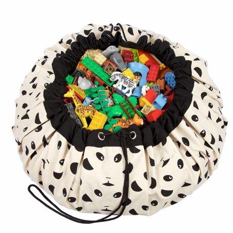 Play & Go Storage bag / toy Panda black cotton Ø140cm