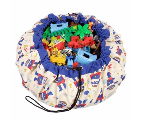 Play & Go Storage bag / playmat Superhero multicolour cotton Ø140cm