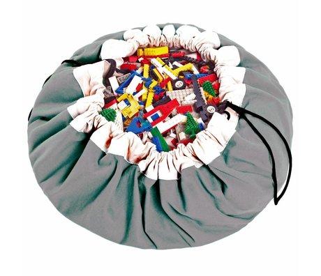 Play & Go Sac de rangement / gris classique playmat coton gris Ø140cm