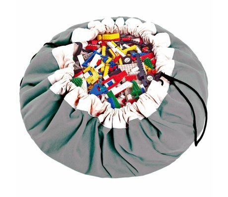 Play & Go Storage bag / playmat Classic Gray gray cotton Ø140cm