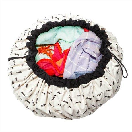 Play & Go Sac de rangement / tapis de jeu pince à linge en coton noir Ø140cm