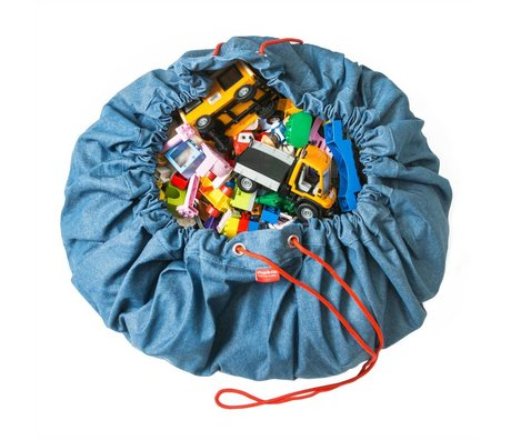 Play & Go Sac de rangement / coton blue jeans Ø140cm playmat