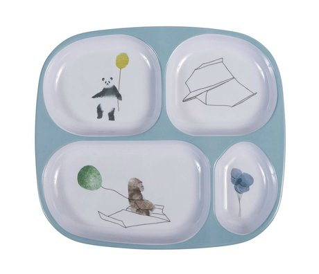 Sebra Children's board four boxes in the sky blue melamine 24x21x2cm