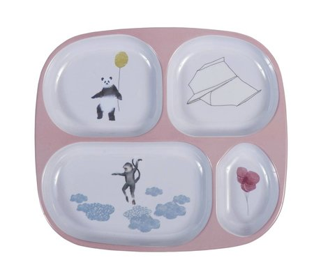 Sebra Children's board four boxes in the sky pink 24x21x2cm