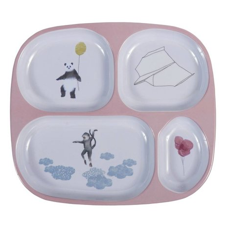 Sebra Kindertisch vier Boxen in den Himmel rosa 24x21x2cm