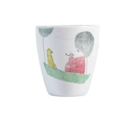 Sebra Kindermok Eisbär Mehrfarbenmelamin Ø6,8x7,5cm
