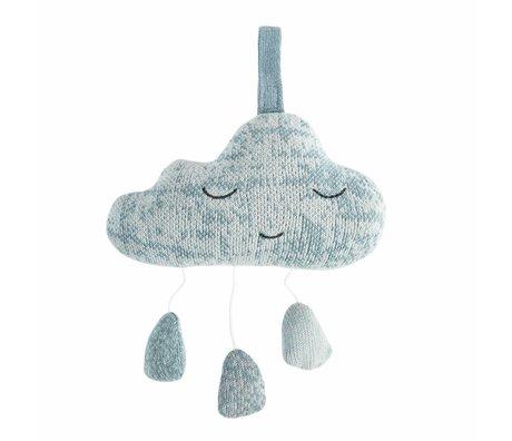 Sebra Muziekmobiel Cloud blauw katoen 16,5x10cm