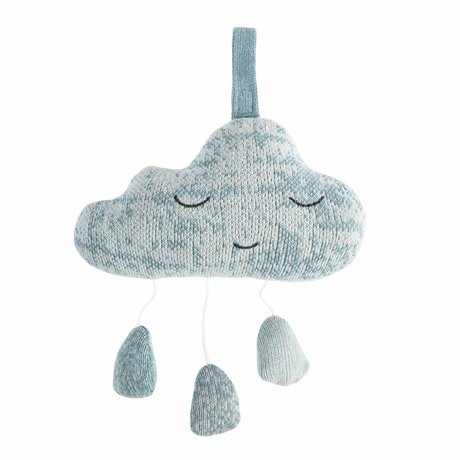 Sebra Music Mobile Cloud blue cotton 16,5x10cm