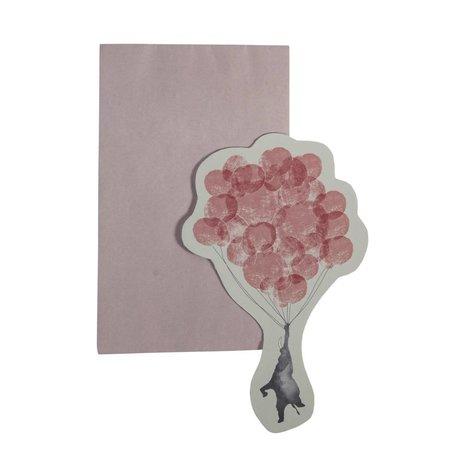Sebra Postkarten In den Himmel rosa Recyclingpapier 13X16cm