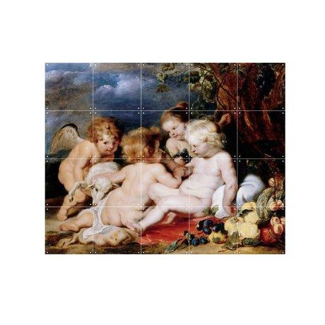 IXXI Wanddekoration Rubens Christus von Johannes de Doper und Engel Mehrfarben S 100x80cm