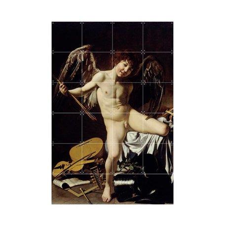 IXXI Wanddekoration Caravaggio Amor Sieger Mehrfarbenpapier S 80x120cm