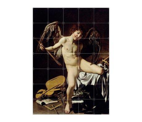 IXXI Wall decoration Caravaggio Cupid winner multicolour paper L 100x140cm