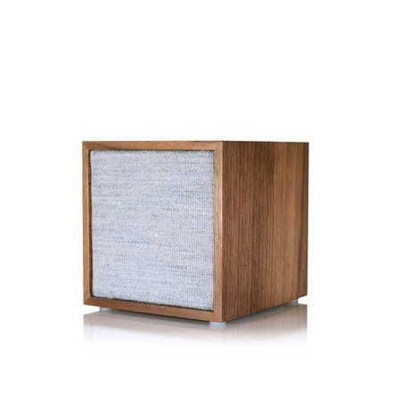 Tivoli Audio Lautsprecher Cube braun grau Holzstaub 11,7x11x11cm