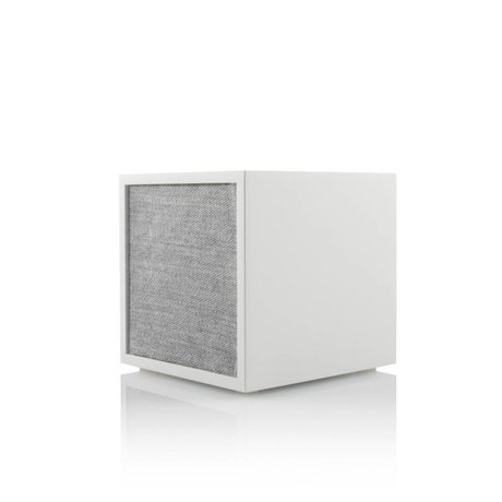 Tivoli Audio Cube speaker white gray wood 11,7x11x11cm