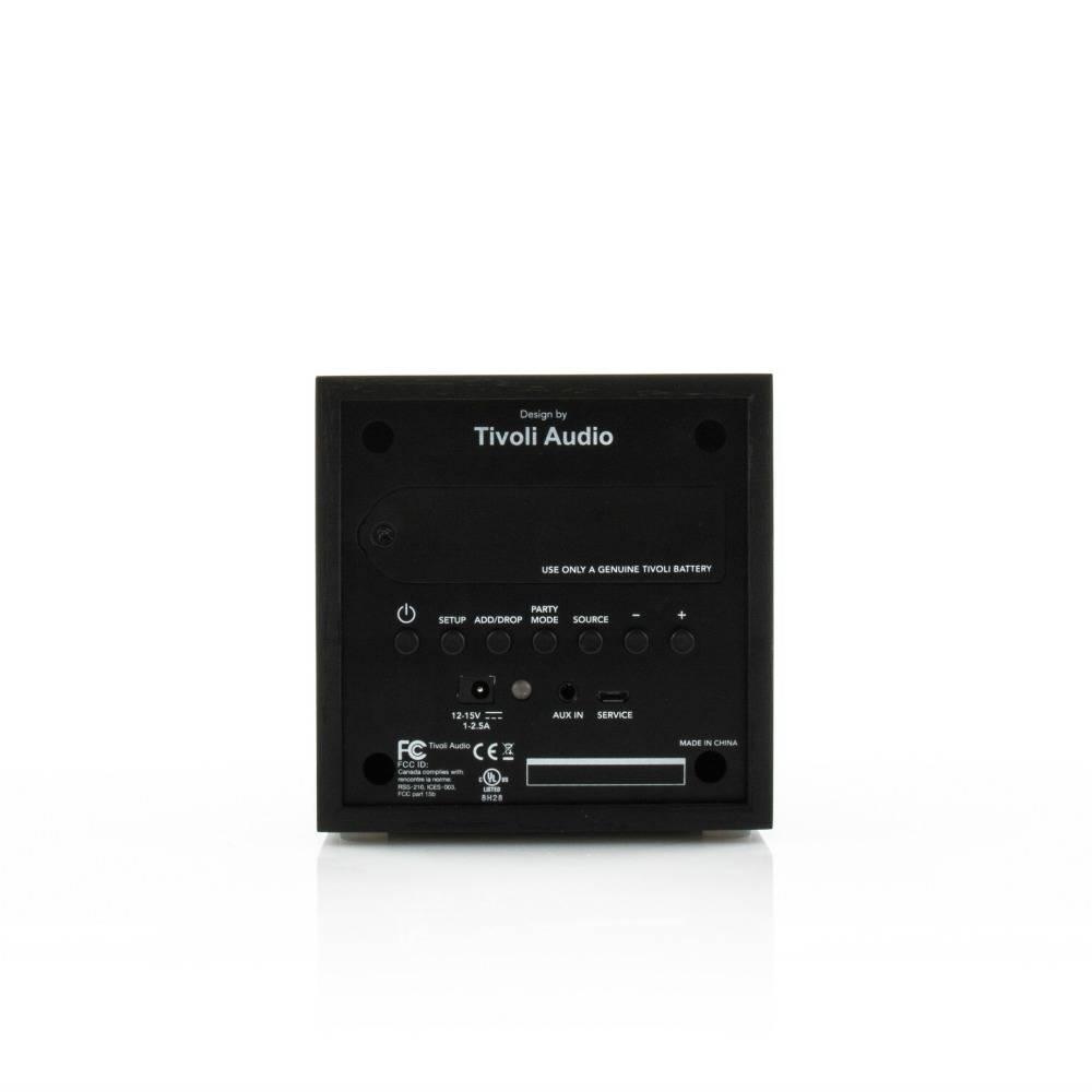 tivoli audio haut parleur cube bois noir 11 7x11x11cm. Black Bedroom Furniture Sets. Home Design Ideas