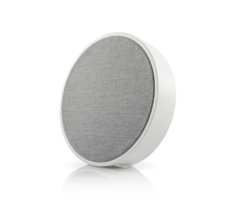 Tivoli Audio Orb speaker white gray wood Ø23x5cm