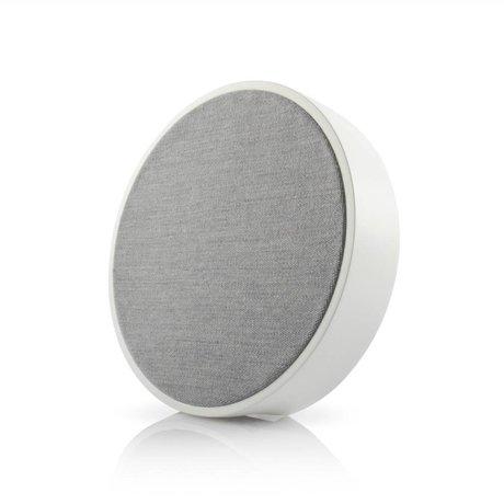 Tivoli Audio haut-parleur Orb bois blanc gris Ø23x5cm
