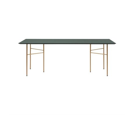 Ferm Living Tabletop Mingle green linoleum 65x135x2cm