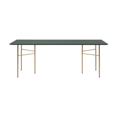 Ferm Living Tabletop Mingle grüne Linoleum 90x160x2cm