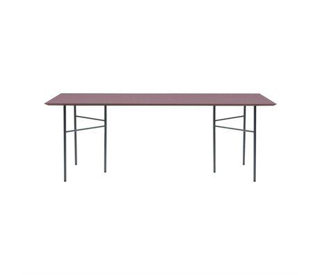 Ferm Living Tabletop Mingle burgunderrot Holz Linoleum 90x160x2cm