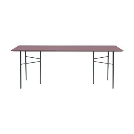Ferm Living Table top Mingle bordeau red wood linoleum 90x160x2cm