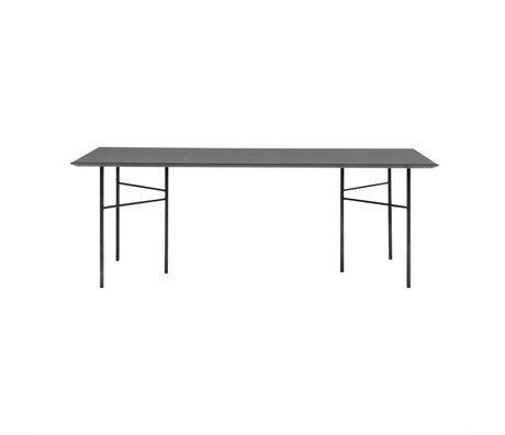 Ferm Living Tafelblad Mingle zwart hout linoleum 90x160x2cm