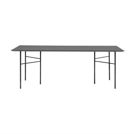 Ferm Living Mischen Sie sich Tischplatte schwarz Linoleum Holz 90x160x2cm