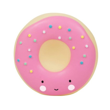 A Little Lovely Company Donut pink plastic piggy bank 14x6x14,5cm