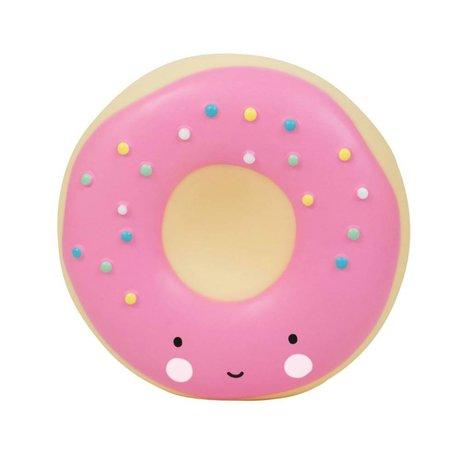 A Little Lovely Company Donut rosa Plastiksparschwein 14x6x14,5cm