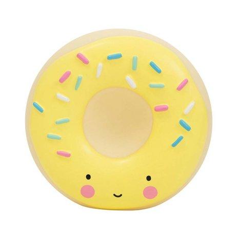 A Little Lovely Company Sparbüchse Donut gelber Kunststoff 14x6x14,5cm