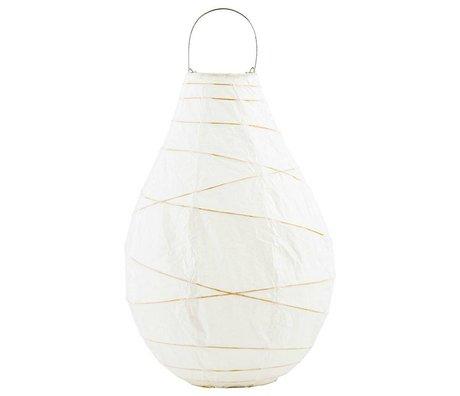Housedoctor Drop lantern white paper bamboo metal XL Ø24x35cm