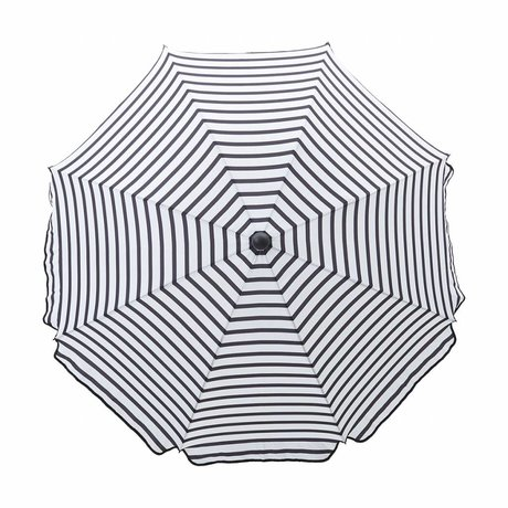 Housedoctor Parasol Oktogon black and white plastic steel ø180x184cm