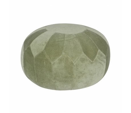 BePureHome Schade Poef Boulder groen fluweel 51x51x36cm