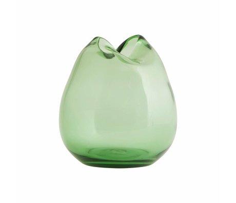 Housedoctor Vaas Wave groen glas ø15x16cm