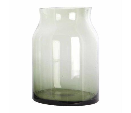 Housedoctor Rubinglas-Vase grün ø17x24cm