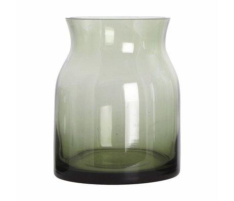 Housedoctor Rubinglas-Vase grün ø13x16cm