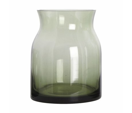 Housedoctor Ruby glass vase green ø13x16cm